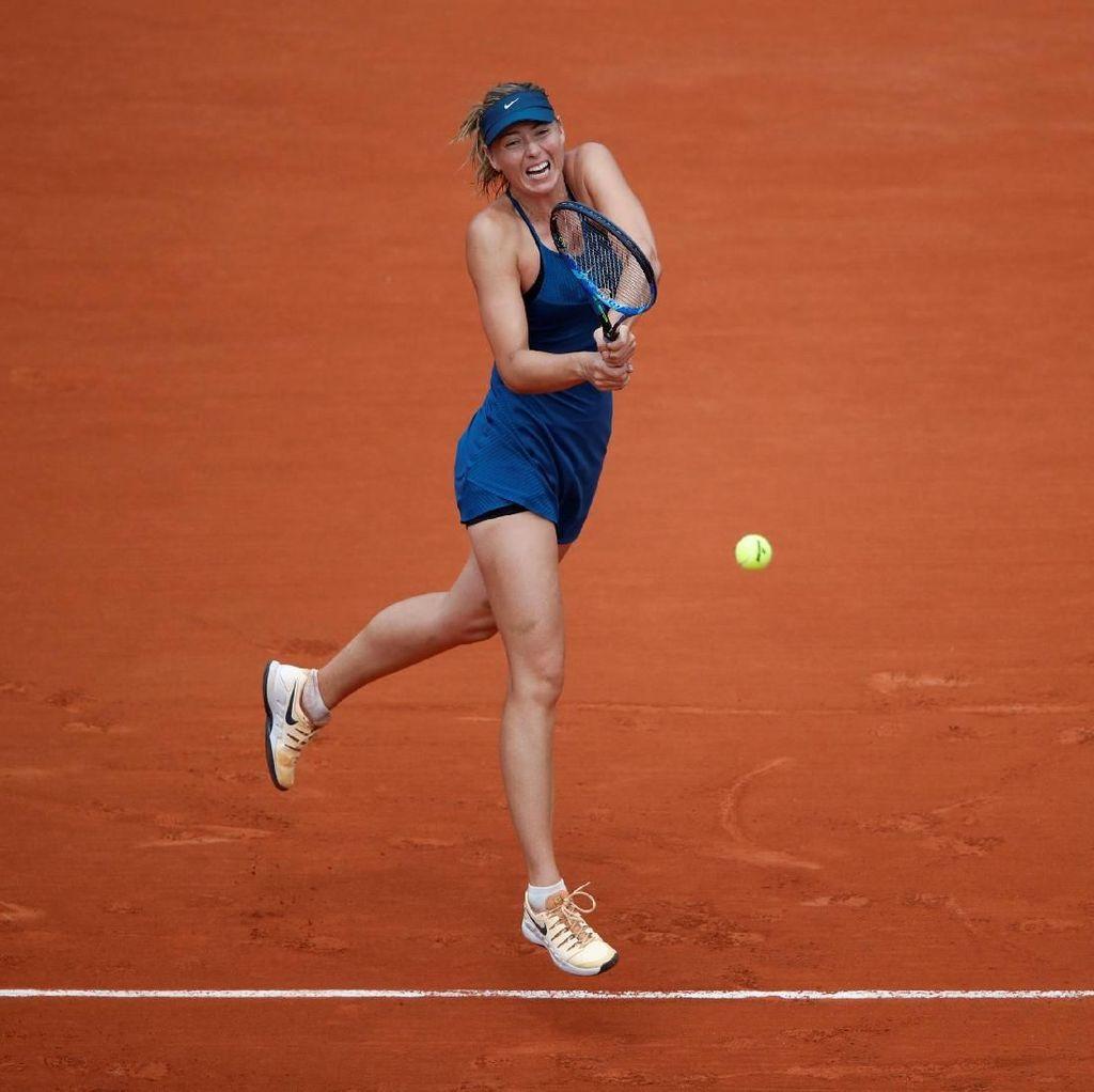 Cuma Kehilangan Tiga Gim, Sharapova Melaju ke Babak 16 Besar