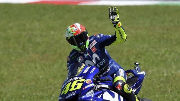 Valentino Rossi meraih posisi ketiga di MotoGP Malaysia 2018. (