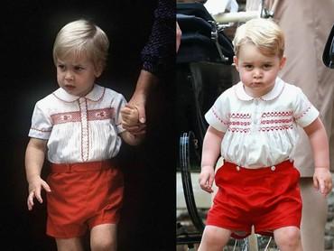 Kembaran pakai baju putih dan merah. Hmm, serupa tapi tak sama. (Foto: Instagram @theroyalcourier)