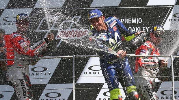 Rossi finis ketiga di MotoGP Italia 2018.