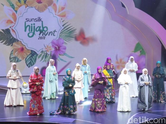 Lima finali Sunsilk Hijab Hunt 2018 yang melaju ke babak top 5. Foto: Silmia Putri/Wolipop