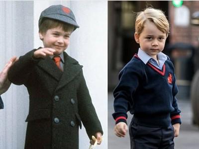 Foto Pangeran William Saat Kecil dan Pangeran George, Mirip Kan?