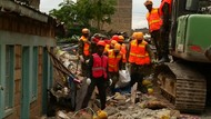 Ngeri! Bangunan Lima Lantai Roboh Mendadak di Kenya