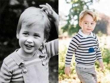 Pakai kaus garis-garis, Pangeran William dan Pangeran George sama imutnya ya? (Foto: Instagram @theroyalcourier)