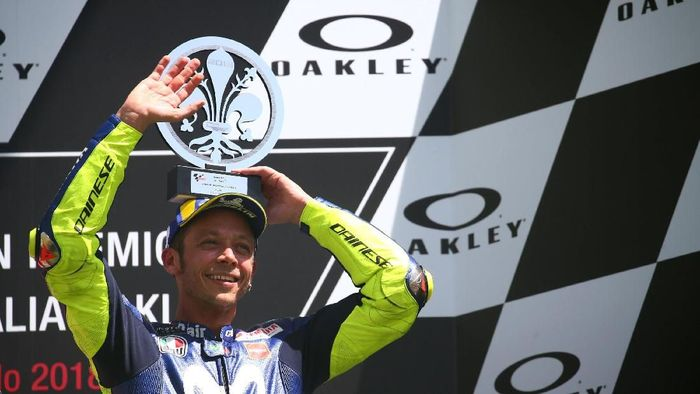 Valentino Rossi finis ketiga di MotoGP Italia.(Foto: Alessandro Bianchi/ REUTERS)