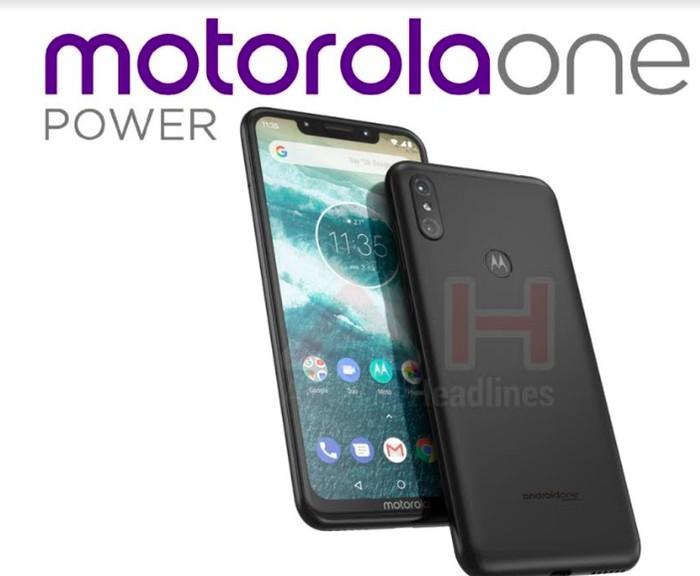 Bocoran tampang Motorola One Power. Foto: istimewa
