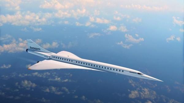 Ini pesawat kedua yang dibuat di Denver, Colorado, sebuah pesawat supersonik berkapasitas 55-75 tempat duduk bernama Overture dari Boom.Pesawatini dirancangterbang di Mach 2.2 (1.451 mph)dengan banderolUSD 200 juta dan mengudara pada 2023 (Foto: CNN)
