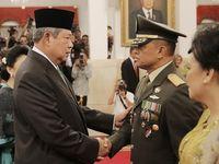 Gatot usai dilantik oleh SBY pada Juli 2014.