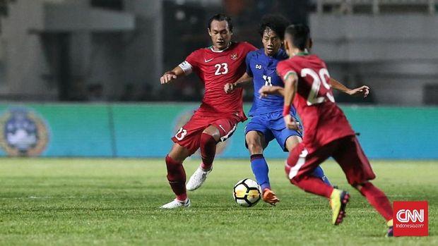 Beberapa pemain Timnas Indonesia sempat berjumpa dengan Thailand dalam laga uji tanding yang berlangsung Juni 2018.