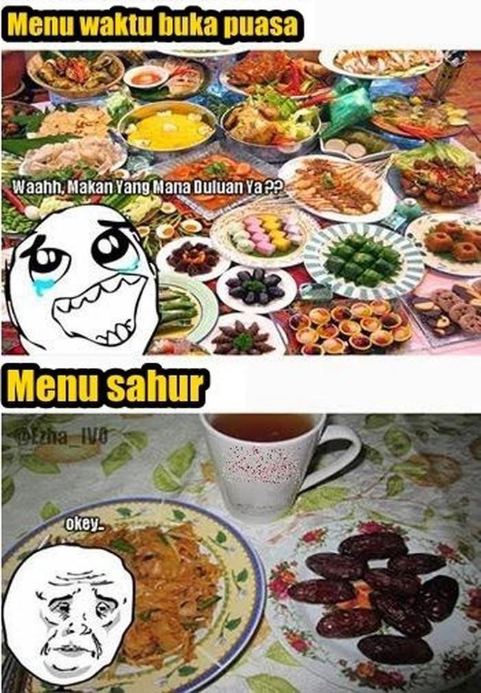 Ah siapa nih yang sukanya makan bermewah-mewahan saat berbuka puasa dan justru makan sahur dengan menu paket hemat? (Foto: Internet)