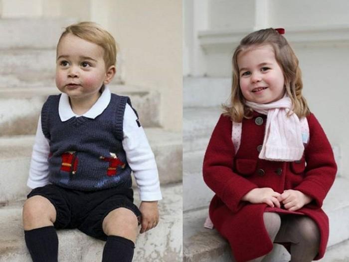 Foto Pangeran George dan Charlotte
