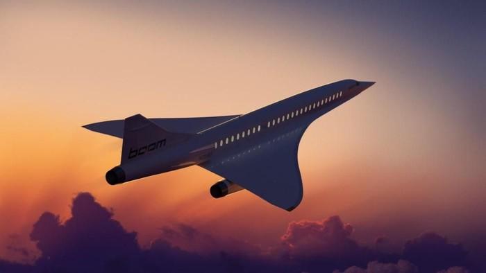 pesawat supersonik boom