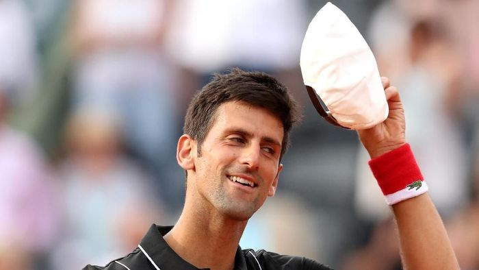 Novak Djokovic melangkah ke perempatfinal Prancis Terbuka. (Foto: Matthew Stockman/Getty Images)