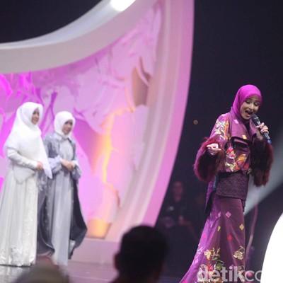 Penampilan Fadila Yahya di Grand Final Sunsilk Hijab Hunt 2018. Foto: Pradita/Detikcom