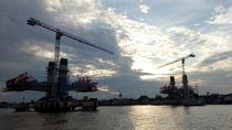 Pekerja Adhi Karya Terjatuh di Sungai Musi dan Belum Ditemukan