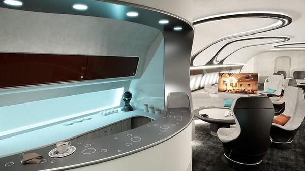 Traveler juga bisa menemukan ruang rapat yang dilengkapi dengan 4 kamar VIP. Masing-masing disertai dengan kantor mini yang dapat diubah menjadi kasur (Airbus Corporate Jets)