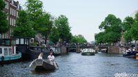 Kanal Amsterdam, yang jadi daya tarik turis (Afif Farhan/detikTravel)