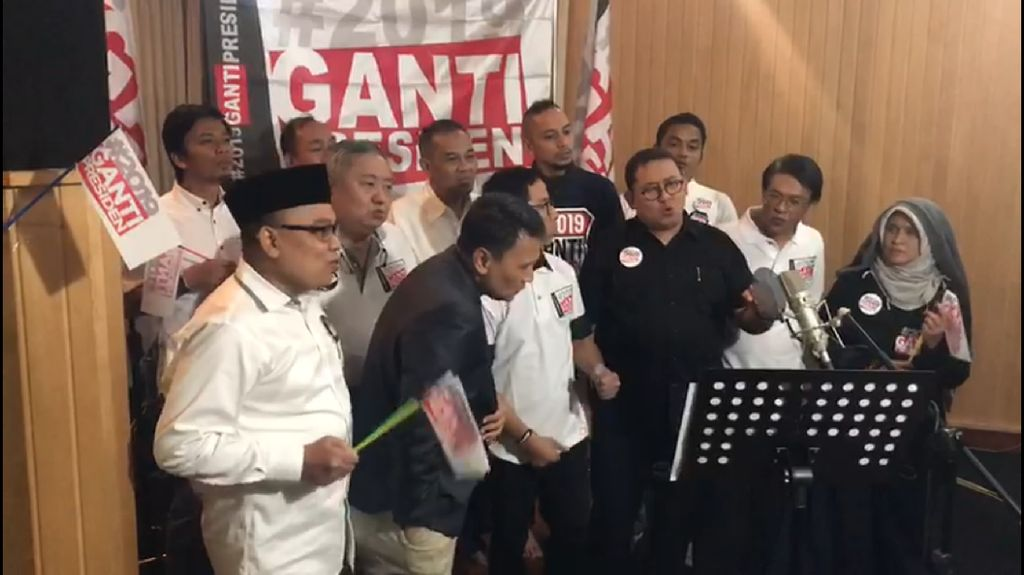 Mardani-Fadli-Amien Rais Rekaman Lagu #2019GantiPresiden