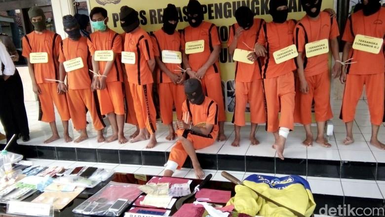 Polisi Tembak Anggota Geng Motor Pembacok 2 Warga Sukabumi