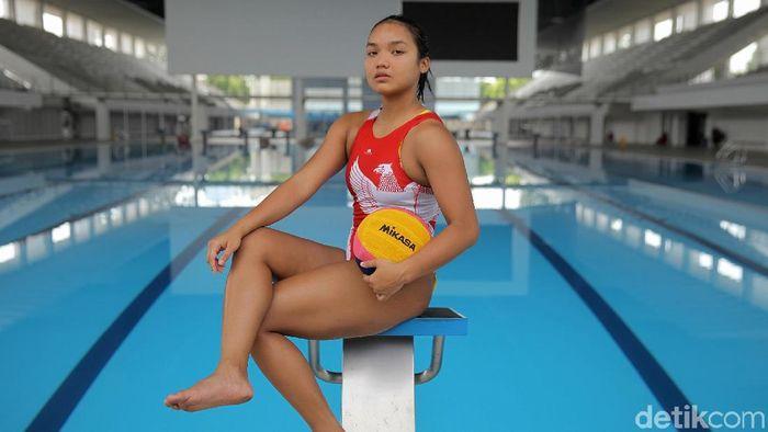 Atlet polo air Alya Nadira (Agung Pambudhy/detikSport)