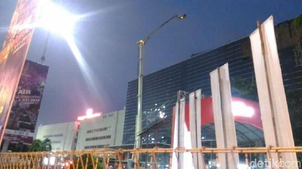 Kondisi gedung pusat niaga JIExpo Kemayoran, Selasa (5/6/2018)
