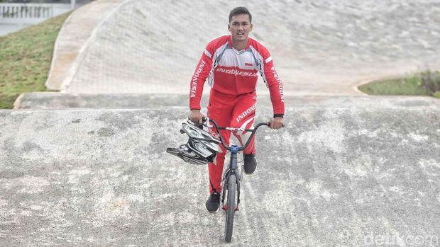 Atlet terbaik seleksi balap sepeda BMX I Bagus Gusti Saputra