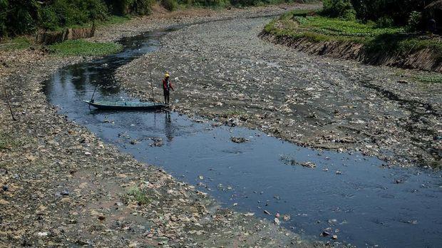 Kondisi Sungai Citarum Lama, Rancamanyar, Kabupaten Bandung, 2018.