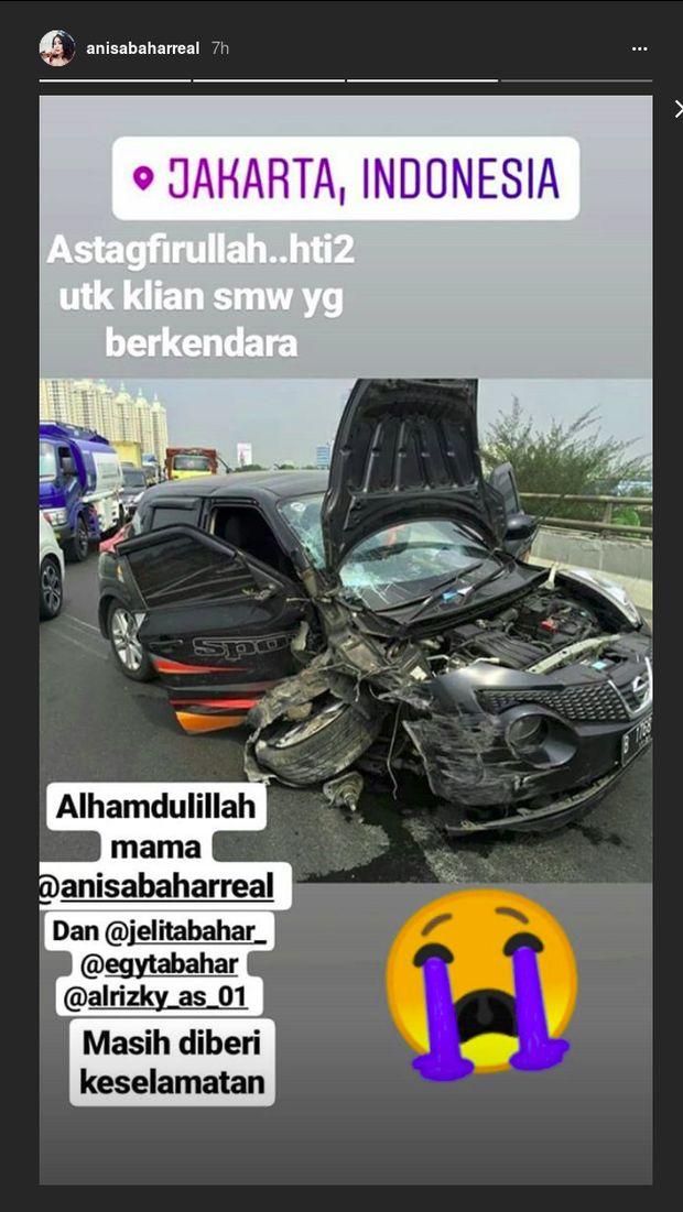 Screenshot Instagram Story Anisa Bahar