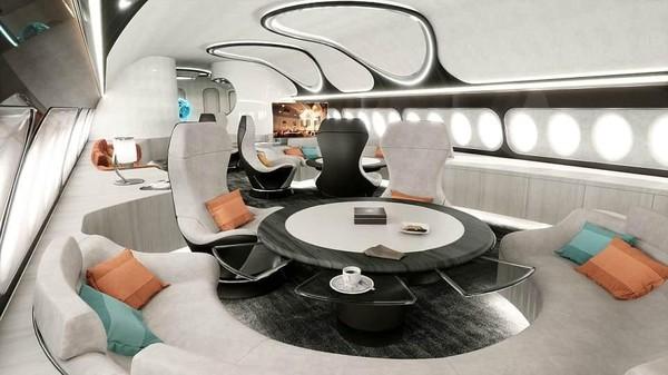 Diketahui, desain Hotel Class tersebut dibuat khusus untuk pesawat jet privat komersial. Sejumlah fitur mewah ala hotel seperti kasur nyaman, kamar mandi hingga lounge dihadirkan di dalamnya (Airbus Corporate Jets)