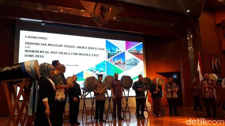 Foto: Peluncuran IMTI di Gedung Kemenpar (Shinta/detikTravel)
