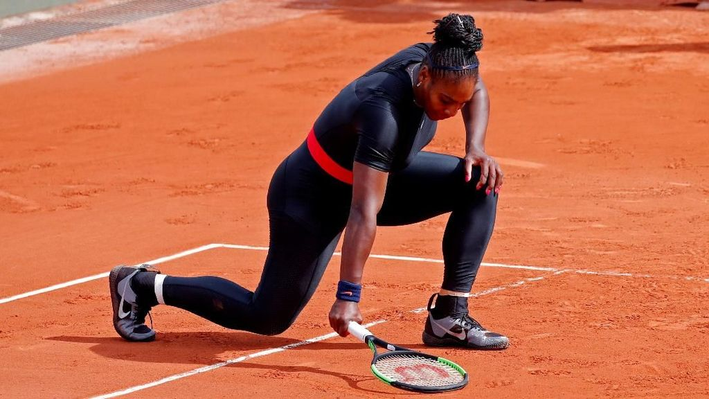 Serena Mundur, Tak Ada Lagi Ratu Wakanda di Prancis Terbuka 2018