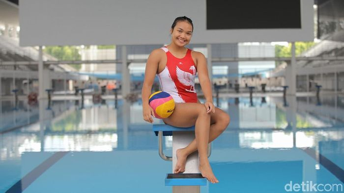 Atlet timnas polo air putri Alya Nadira (Agung Pambudhy/detikSport)