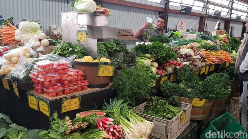 Namanya Carriageworks Farmers Market, berada di 245 Wilson St, Eveleigh atau sekitar 30 menit dari pusat Kota Sydney. (Rivki/detikTravel)