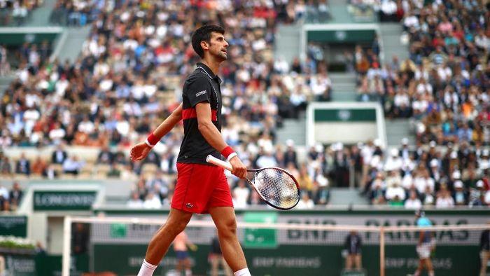 Novak Djokovic tumbang di perempatfinal Prancis Terbuka. (Foto: Cameron Spencer/Getty Images)