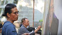 Kolaborasi Hanafi-Goenawan Lahirkan Lukisan Stephen Hawking