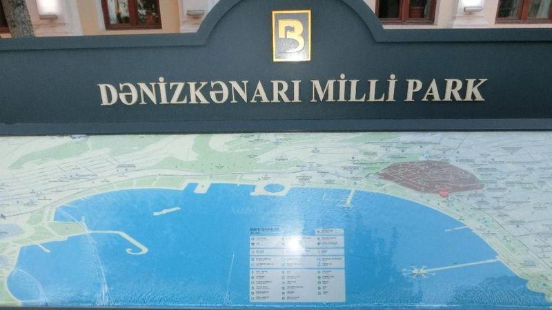 Baku terletak di tepi Danau Laut Kaspia. Spot terbaik menikmatinya adalah di Baku Boulevard atau Denizkenari Milli Park. (Nograhany/detikTravel)
