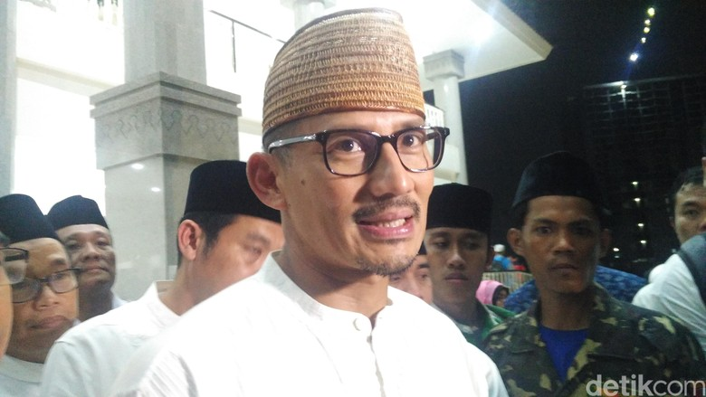 Kata Sandiaga soal Peluang Duet Prabowo-Amien di Pilpres 2019