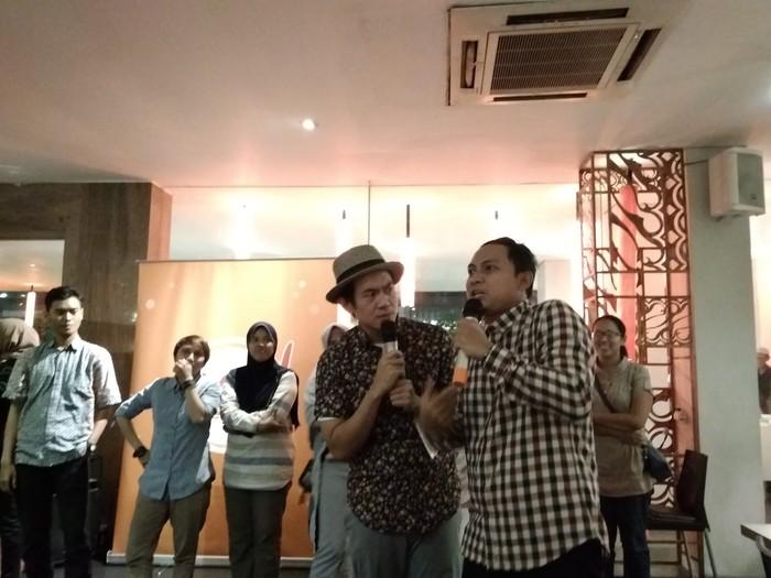 Tapi tiba-tiba datang dua MC yakni Melky dan Aden Bajaj yang mendadak bikin suasana ramai dan hangat. Foto: dok. detikFood