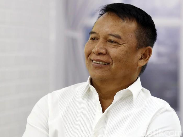 Cagub Jabar TB Hasanuddin menjalani syuting Blak-blakan DCandidate detikcom di Jakarta