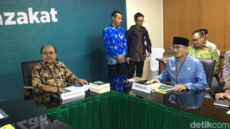 Sandi Temui Ketua Baznas, Bahas Legalitas BAZIS DKI?