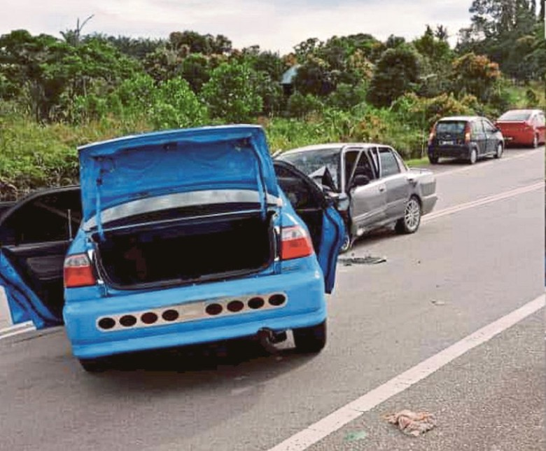 Kecelakaan maut di Malaysia, tewaskan bayi 8 bulan. Foto: Istimewa