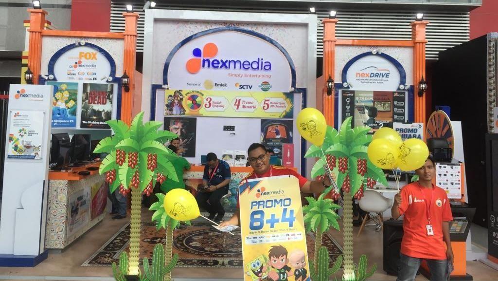 Gaet Pelanggan, Nexmedia Berbagi Alat Elektronik di Jakarta Fair 2018