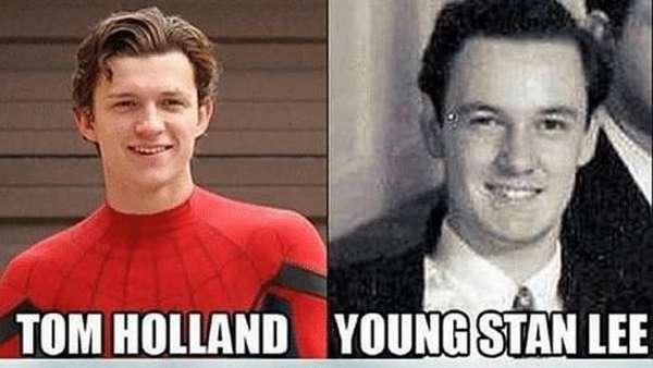 Ini Bukti Kemiripan Tom Holland dengan Stan Lee Muda