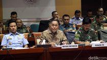 Menhan, Panglima TNI dan DPR Rapat Bahas Anggaran