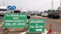 Tol Bocimi Dibuka Satu Arah dari Bogor, Truk Dilarang Masuk