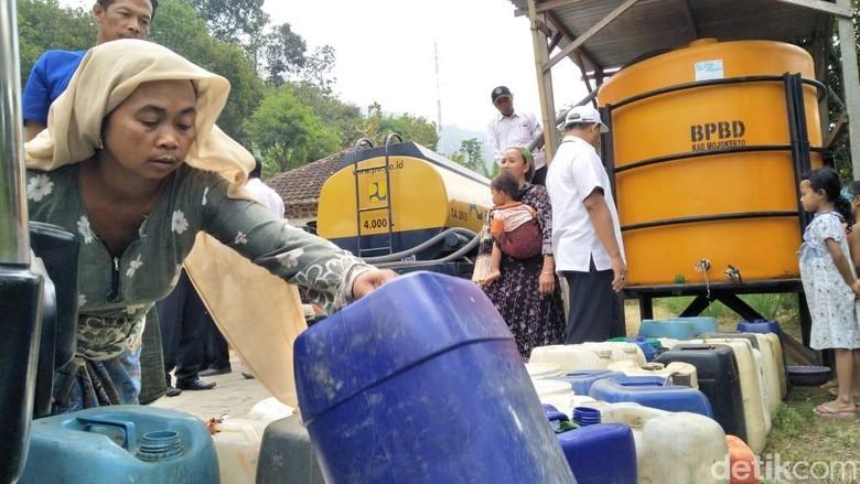 Kekeringan 3 Desa di Lereng Penanggungan, Ribuan Jiwa Kesulitan Air