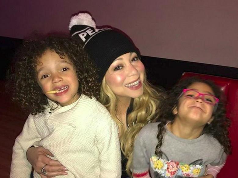 Foto: Mariah Carey dan si kembar (instagram)