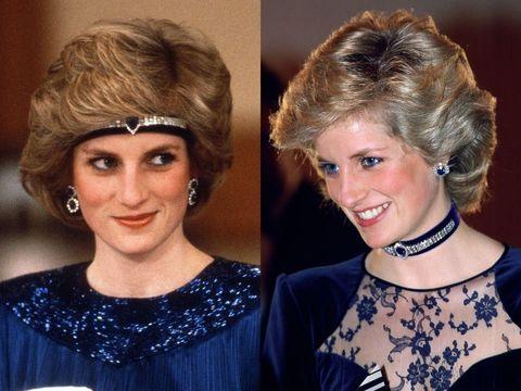 Gaya rambut Putri Diana.