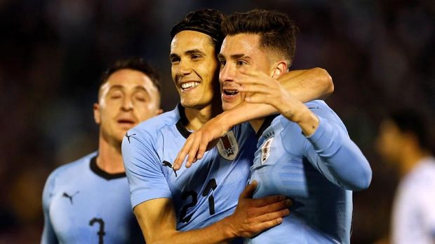 Timnas Uruguay masih terlalu kuat terhadap Mesir. (