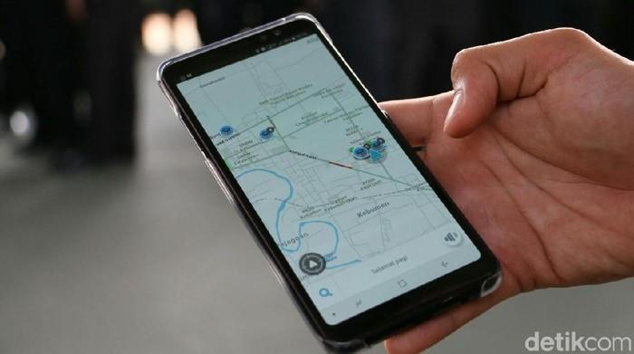 Aplikasi Waze. Foto: detikINET/Rinto Heksantoro